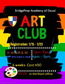 Art Club - starting soon